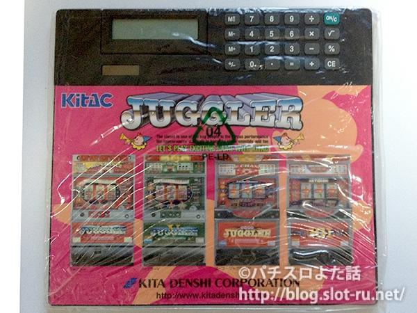 北電子ジャグラーシリーズの電卓付きマウスパッド
