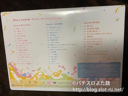 重力シンパシー/バラの儀式/誇りの丘全公演コンプリートCD&DVD-BOX:ジャケット裏写真
