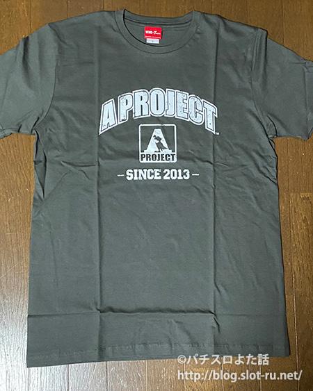 A PROJECTデザインTシャツ表面デザイン